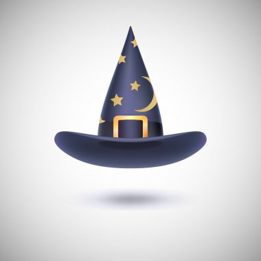 Black witch hat for Halloween.