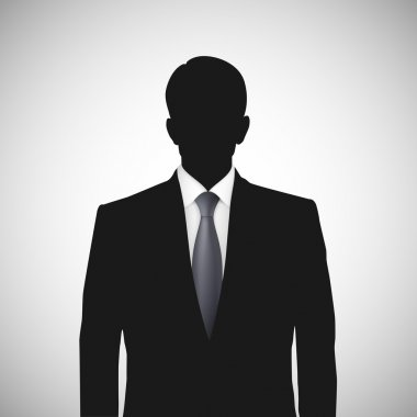 Unknown person silhouette whith tie