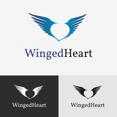 Flying wings Logo template.