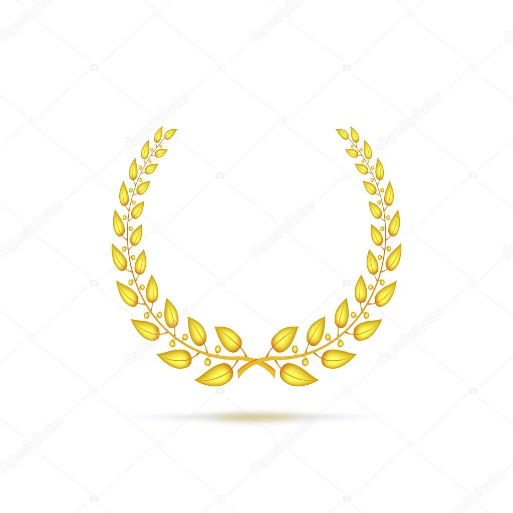 Zlatý vavřínový věnec — Stock Vektor © master-erik  75320309 128a44bd19
