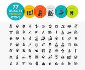 Vysoce kvalitní lékařské ikony včetně: spa, péče o starší, ženský