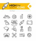Photo Auto Repair line icons
