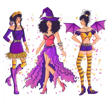 Halloween witch girl set