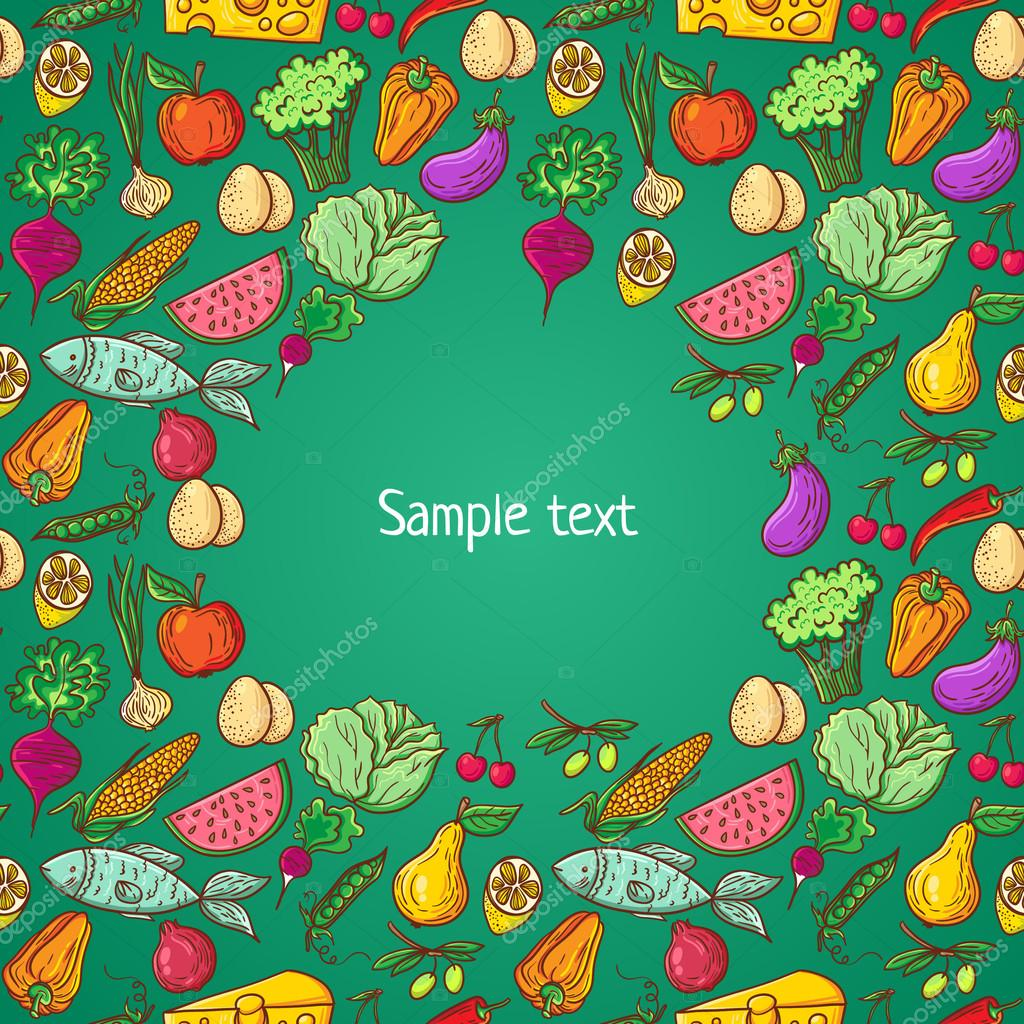Healthy food pattern template