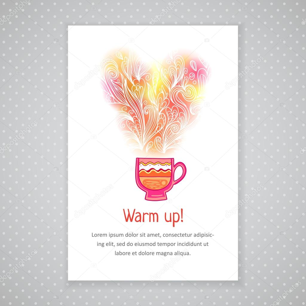 Coffee Cup Card Template
