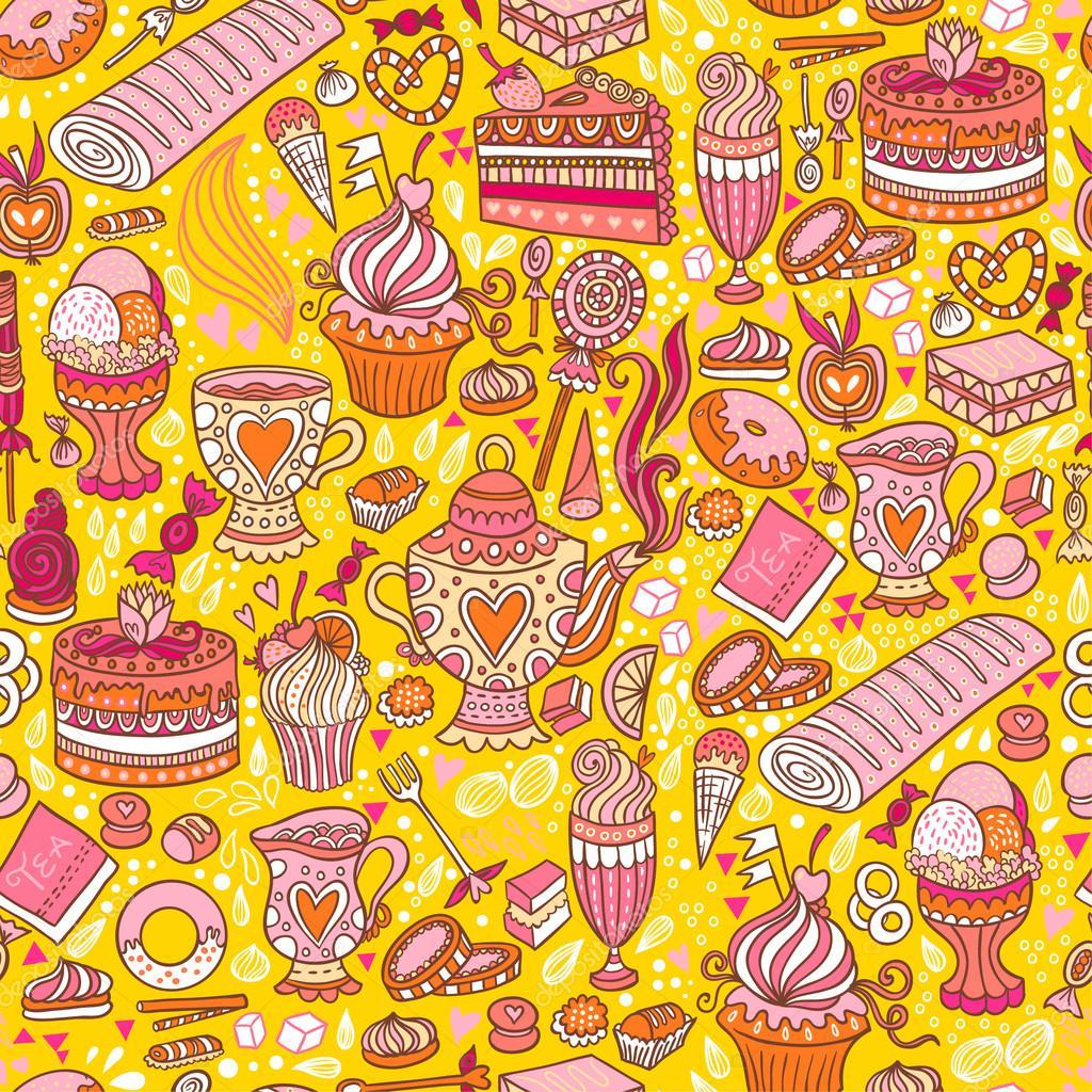 Tea party pattern