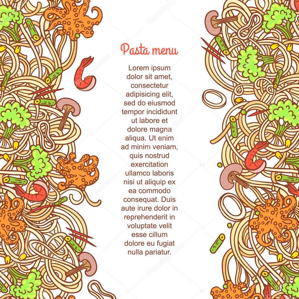 Seafood pasta pattern