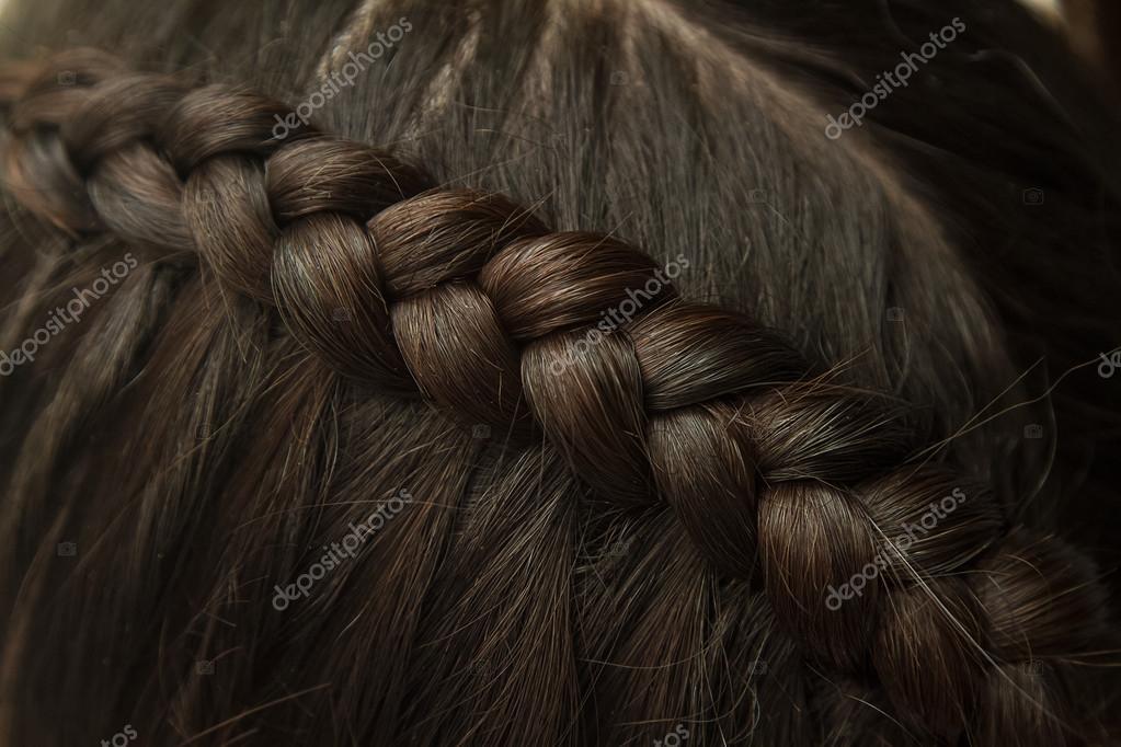 Flechten Sie Frisur Schwarze Lange Haare Hautnah Stockfoto