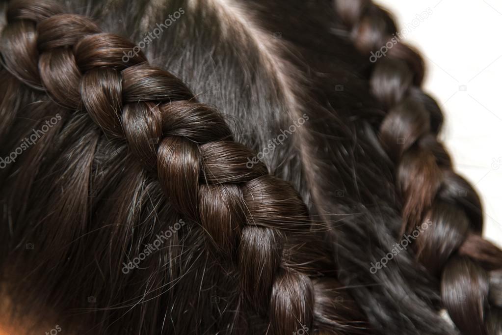 Peinados Pelo Largo Y Negro Peinado De La Trenza Cabello Largo