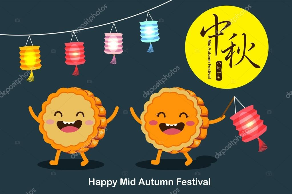 Angry Birds Playing Card Deck And Vector Characters: Vector Mooncakes Cartoon Character Of Mid Autumn Festival