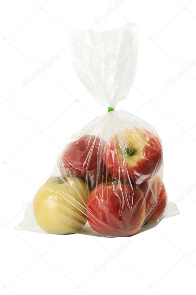 Apple with plastic warp