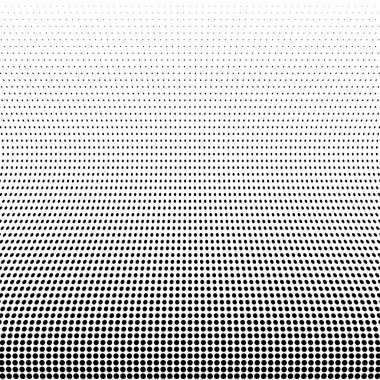 Black Abstract Halftone Design Element, vector illustration