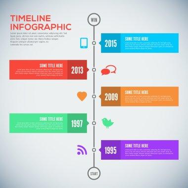 Modern timeline design template. Infographic. Vector design.
