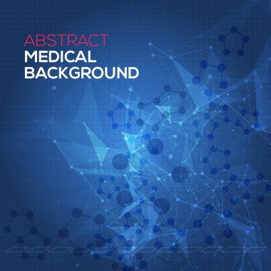 Medical abstract background. Abstract polygonal space low poly dark background with connecting dots and lines. Connection structure. Vector science background. Polygonal vector background. Vector stock vector