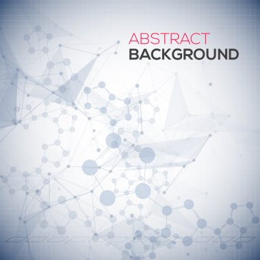 Abstract polygonal low poly background with connecting dots and lines. Connection structure. Vector science background. Polygonal vector background. Medical abstract background.
