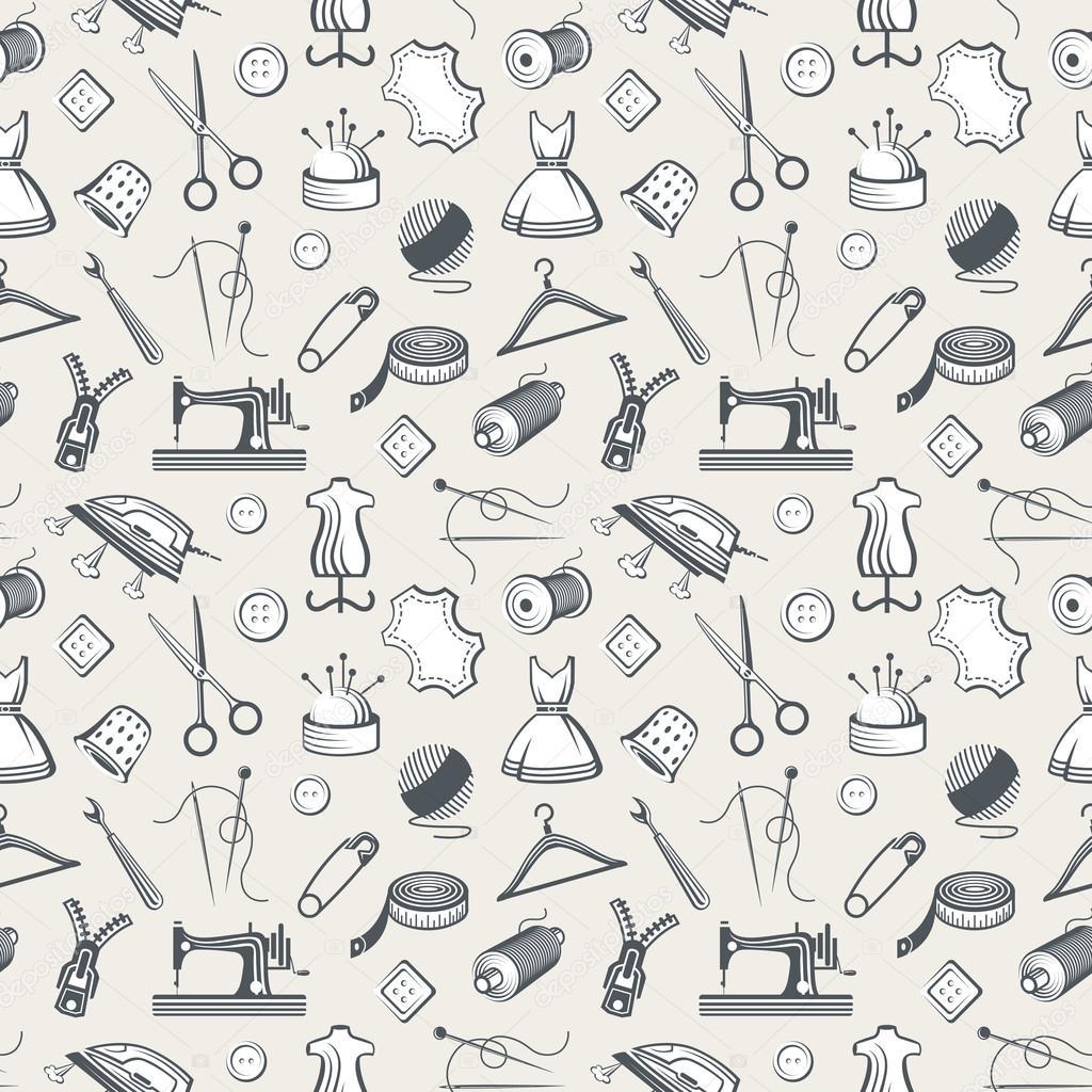 nahtlose Muster mit Nähtechnik — Stockvektor © alexkava #100142496