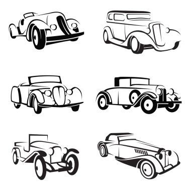 Set of retro cars