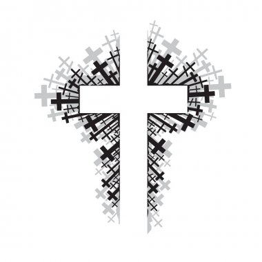 Abstract illustration of religious cross stock vector