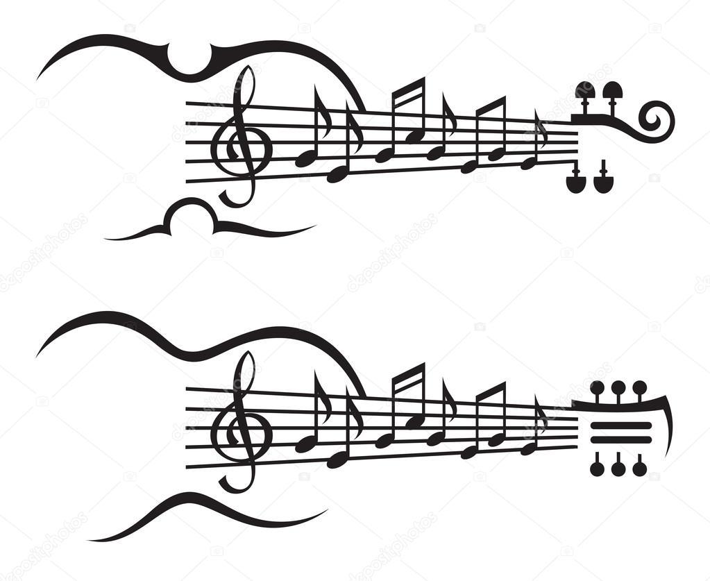 Notas Musicales En Pentagrama Archivo Imágenes Vectoriales