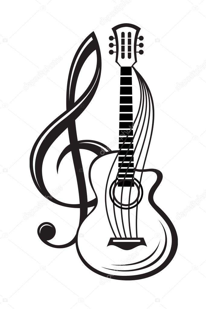 Imágenes Claves De Sol Clave De Sol Y Guitarra Vector De Stock