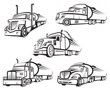 set of tank truck