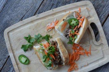 Grilled Pork Banh Mi Sandwich