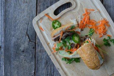 Vietnamese Grilled Pork Banh Mi Sandwich