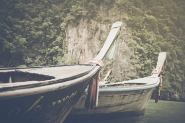 Traditional Long Boats in Thailand