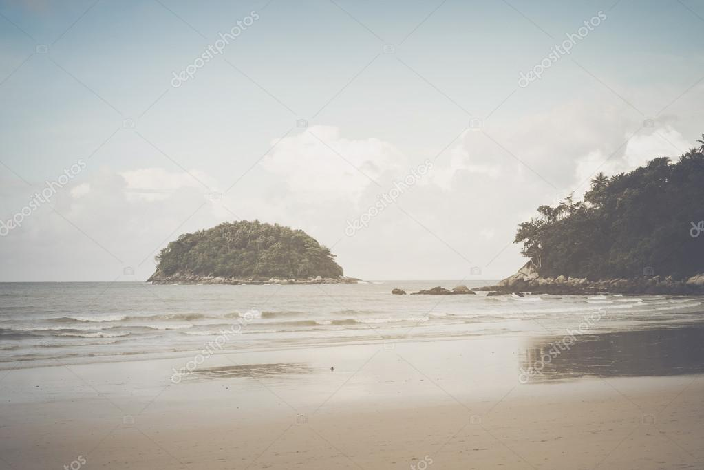 Beach in Thailand with Retro  Filter