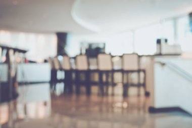 Blurred Modern Hotel Bar