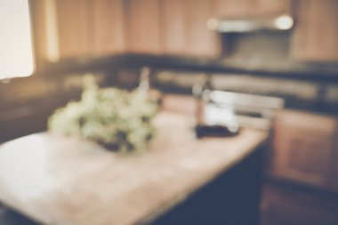 Blurred Kitchen with Retro  Filter