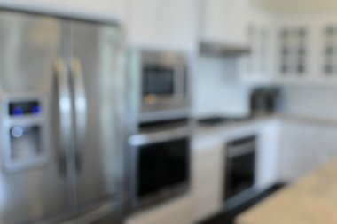 Blurred Modern Kitchen