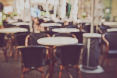 Blurred Empty Cafe