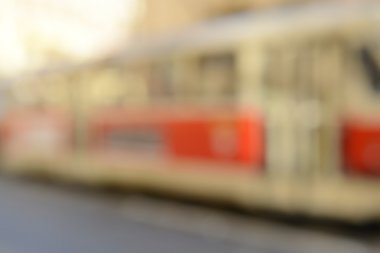 Blurred Train with Retro Filter