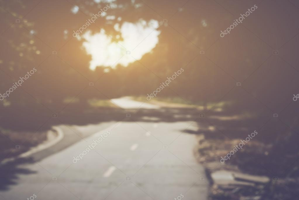 Blurred Road