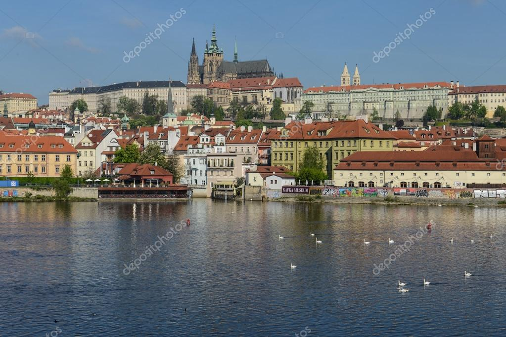 Prague castle with river Vltava