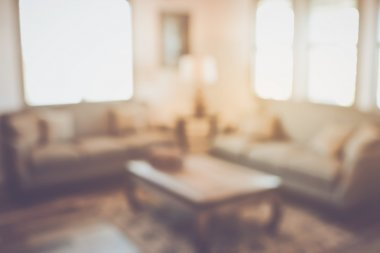 Blurred Modern Living Room
