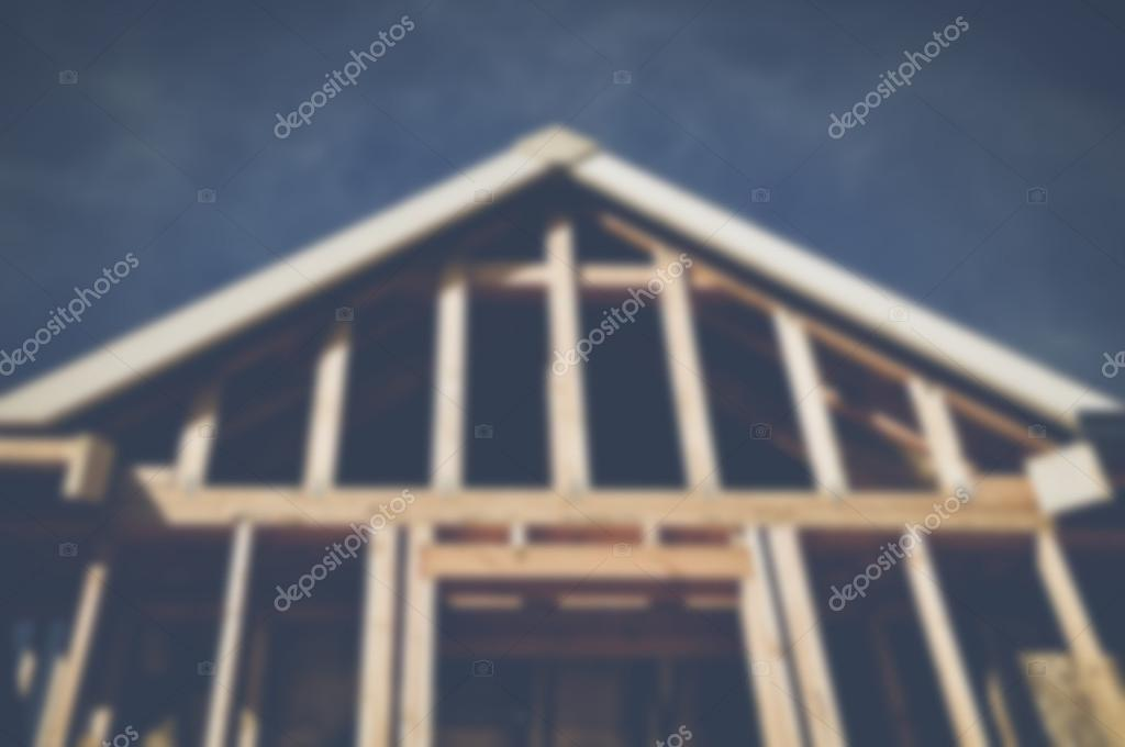 Blurred Home Under Construction