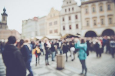 Blurred Tourists in prague