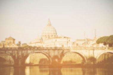Blurred Tiber river