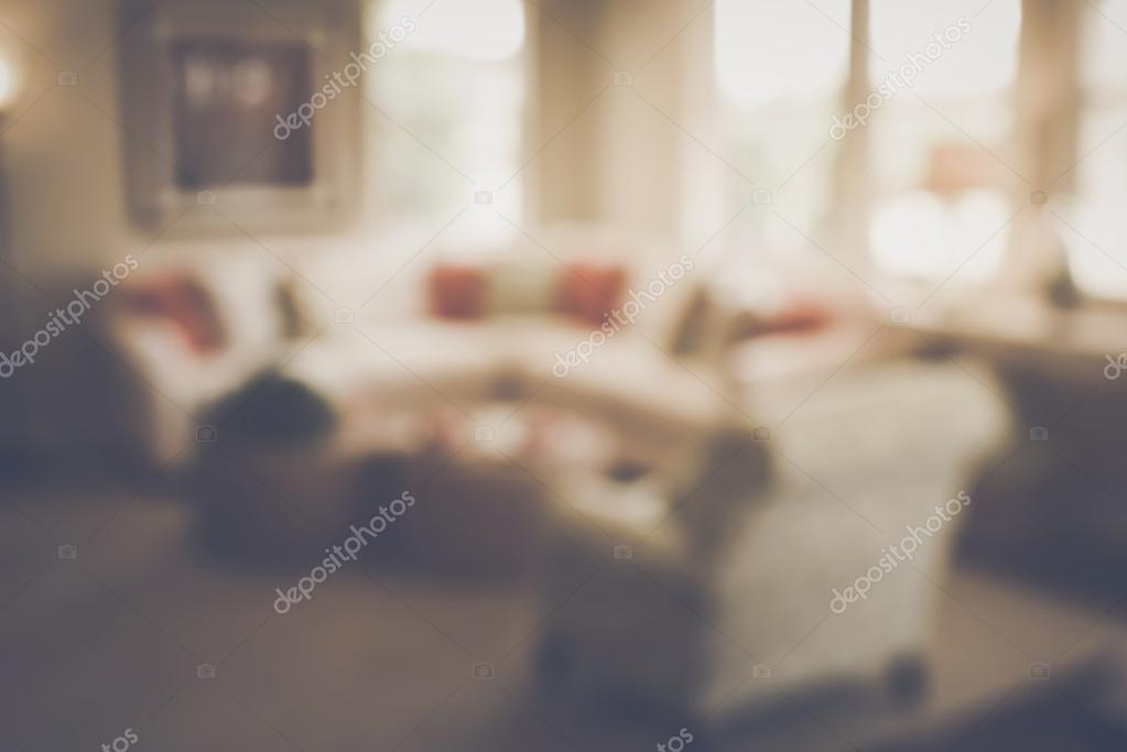 Blurred Living Room with Couches