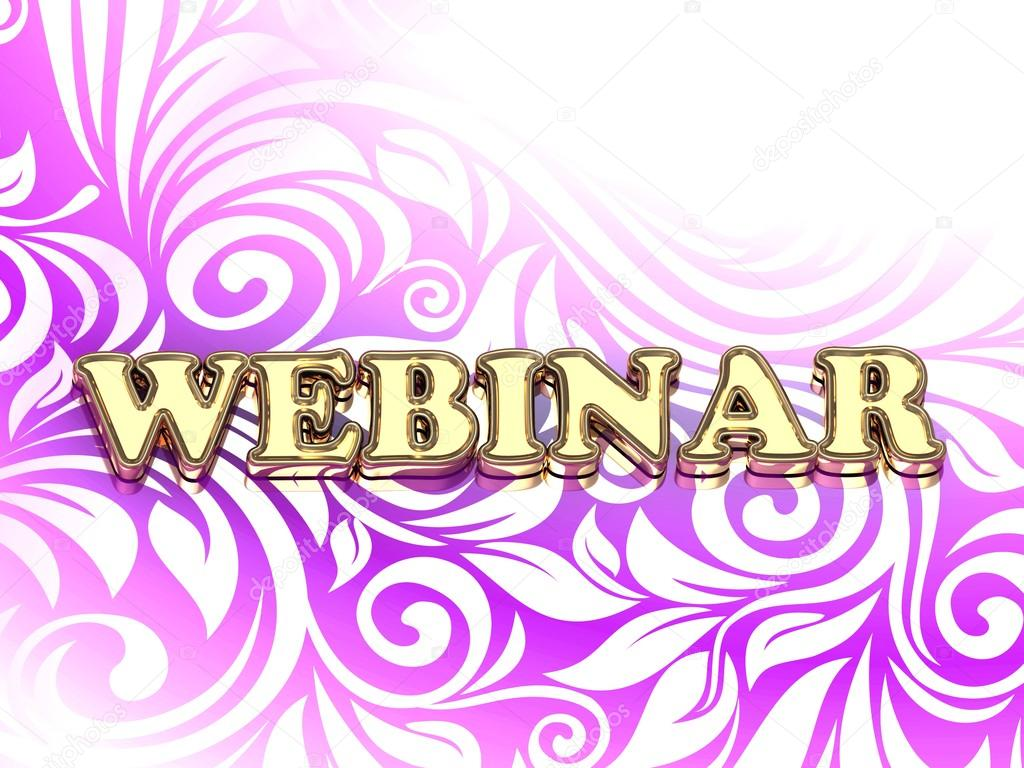 WEBINAR bright color letters on nice rose ornament — Stock Photo ...