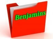 Benjamins - světle zelená písmena na zlatou složky