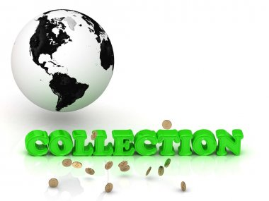 COLLECTION- bright color letters, black and white Earth