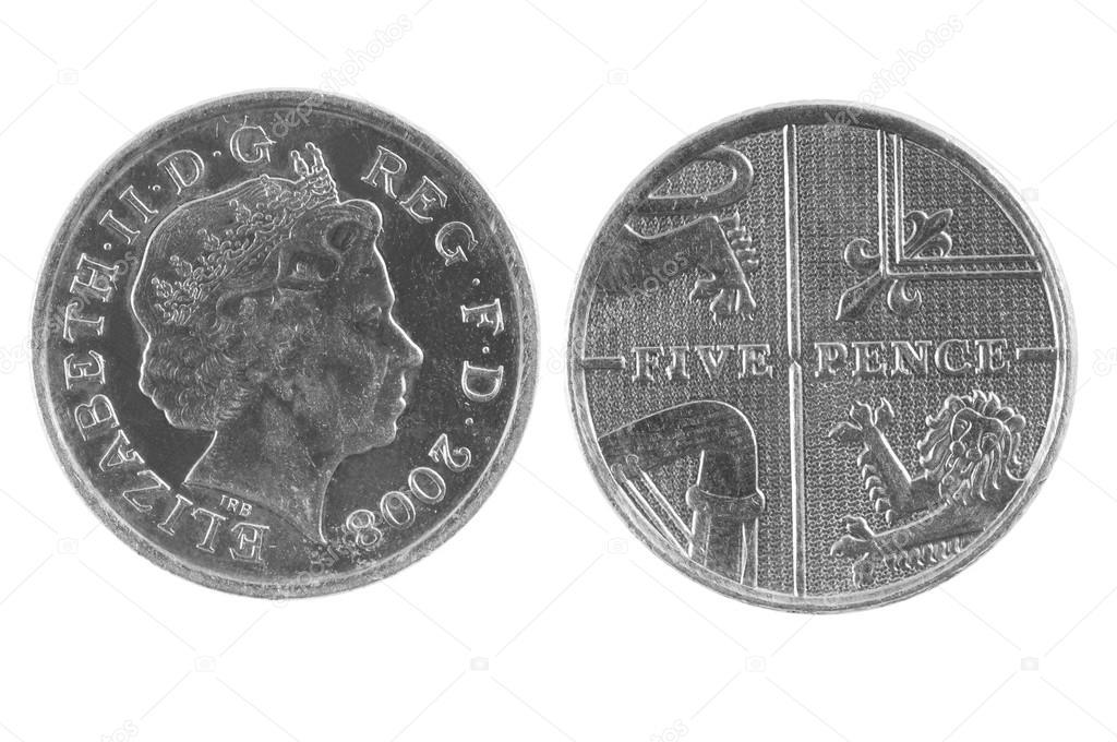 Britische Fünf Pence Münze Stockfoto Andglb 68368507