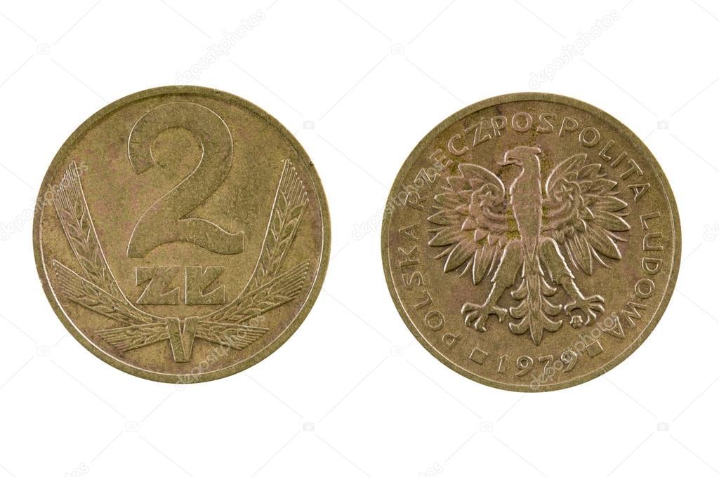 Münze 2 Zloty Polen Stockfoto Andglb 68688367