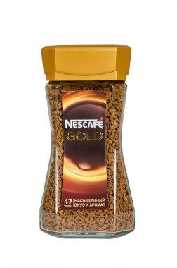 Moscow, Russia November 08,2015:bystrorastvorimy Nescafe coffee. Nescafe - a brand of the instant coffee made by Nestle.