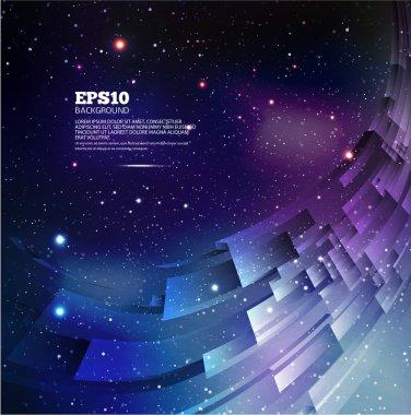 Universe background for presentation design.