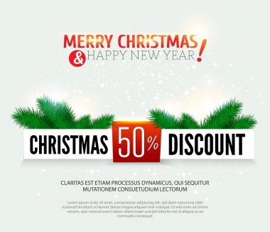 Christmas discount, sale banner