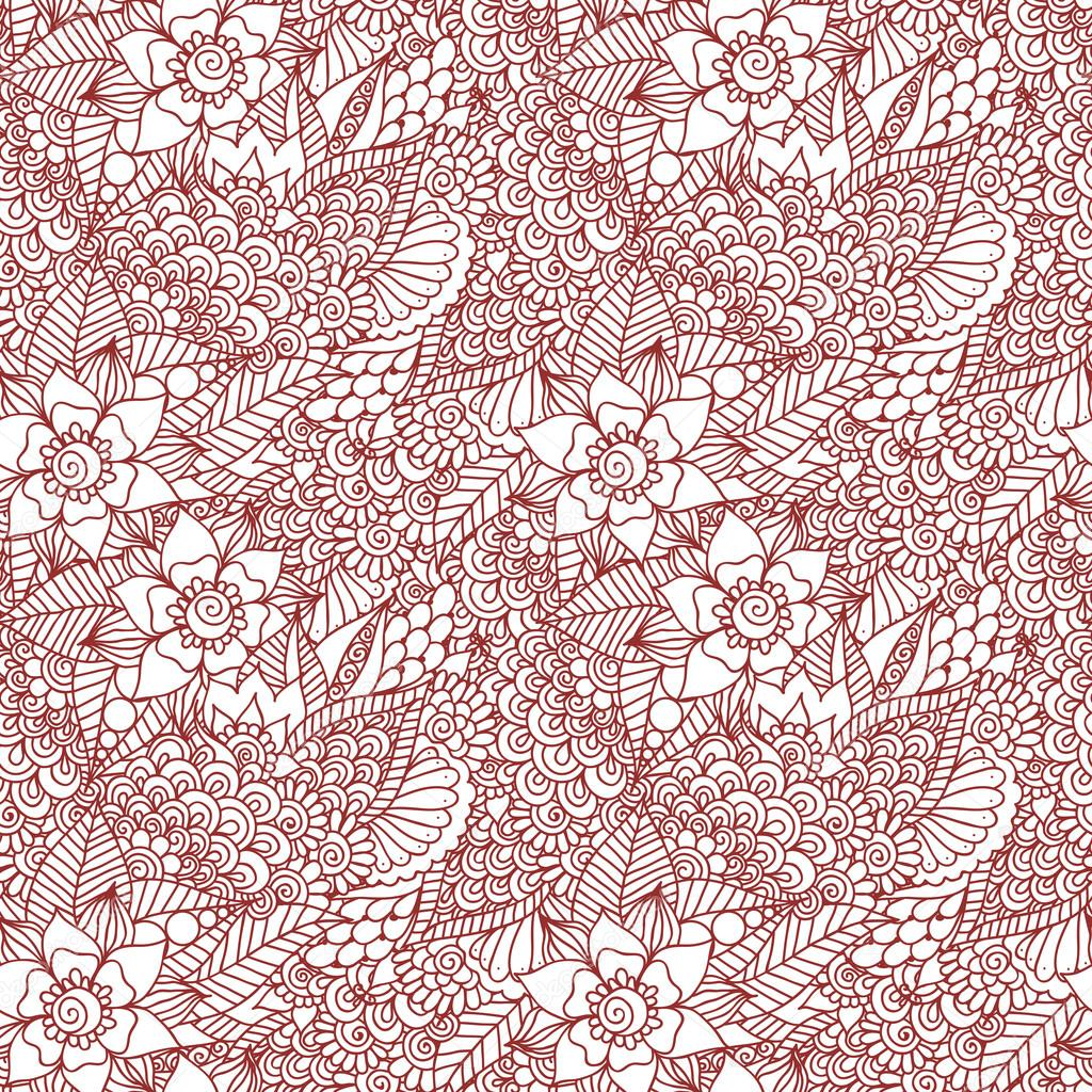 mehndi henna design seamless pattern � stock vector